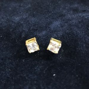 Jewelry - CZ earrings in gold plated sterling silver